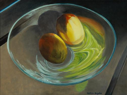 Mangoes on Glass